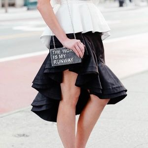 Fame and Partners black ruffle skirt